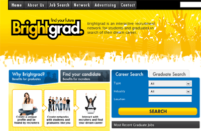 Brightgrad - UK's First Interactive Social Recruitment Site