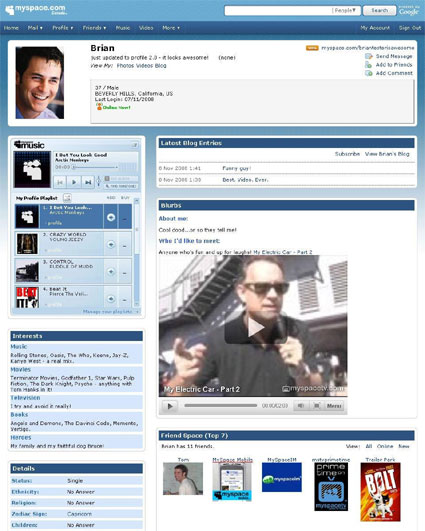 MySpace launches Profile 2.0