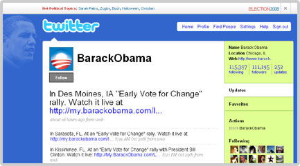 Twitter's Profile of Barack Obama