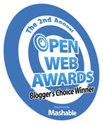 Bloggers Choice Open Web Awards Winner Award