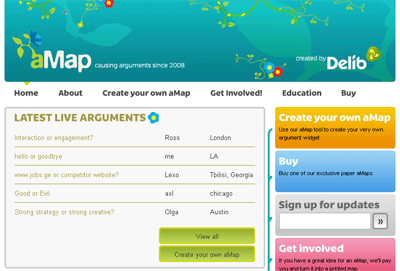 Sharing arguments 2.0 with the aMap