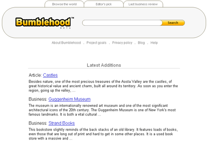 Bumblehood Home Page