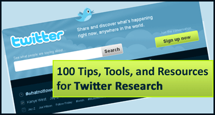 100 Tips, Tools, and Resources for Twitter Research