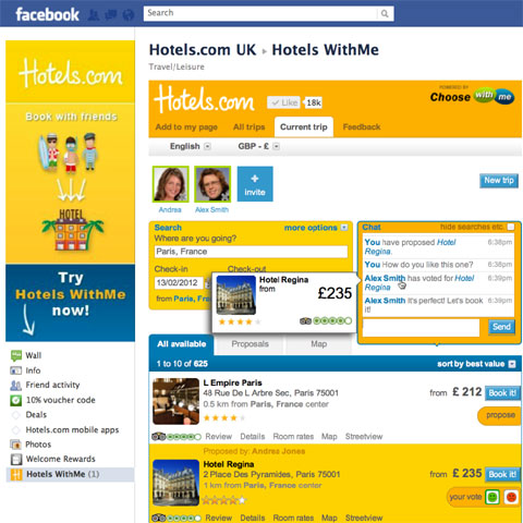 'Hotels WithMe' First in-Facebook Affiliate Programme App