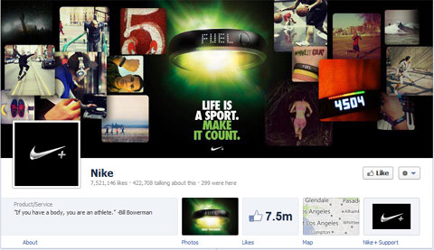 Facebook Page Nike