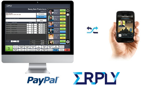 With erply for new in store wireless payment system via mobile devices