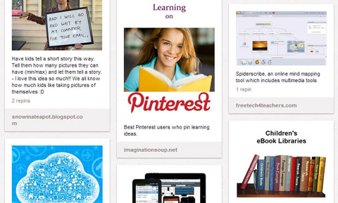 Pinterest Boards in EdTech