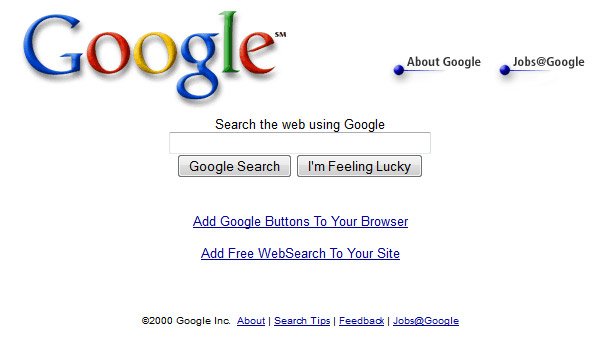 Google in Year 2000