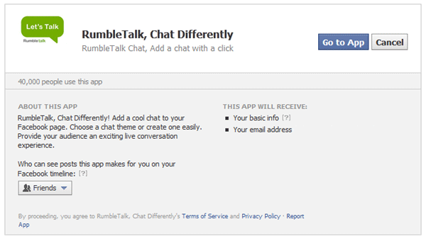 Add RumbleTalk Chat App