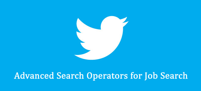 Advanced Twitter Search Operators for Job Search