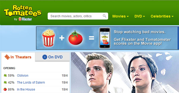 Social Reviews - Rotten Tomatoes