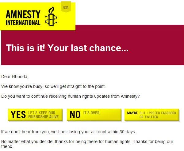 "Amnesty International ""Last chance"""